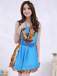 Bright Vest Dress With belts