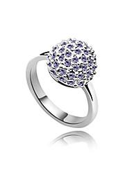 сплава и хрустальный шар форма платины покрытием кольцо