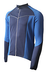 Polyester JAGGAD 50% et 50% Coolmax manches longues Maillot Cyclisme (Dark Blue)