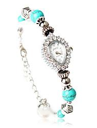 Fashion Quartz Movement Heart Shape with Crystal Bracelet Watch