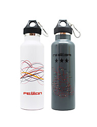 600ML Sports Vacuum Bottle/Vacuum Flask (White/Black/Red)
