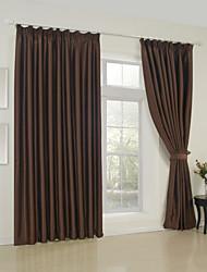 (dos paneles) clásico sólido habitación marrón cortina de oscurecimiento