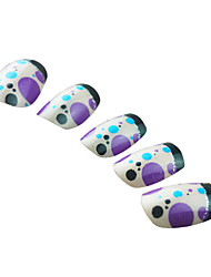 Full Cover Bubble Pattern Plastic Acrylic Nails Tips