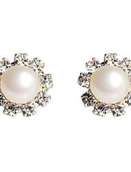 Perle en forme de fleur avec strass