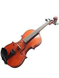 violintine - (v7) 1/8 de haute qualité en épicéa massif et 1-pièce pour violon en érable flammé avec étui / arc