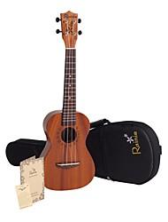 Rainie - (C30) de alta ukulele grande concerto sólido de mogno com bag / sintonizador