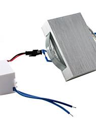 160lm blanc chaud cuboïdes couvrir conduit ampoule au plafond (3w, CA 85-265V)