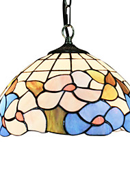 60W Tiffany Pendent Light in Floral Design