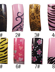 70 Pcs Full Cover Attractive French Acrylic Nails Tips 8 Colors Available