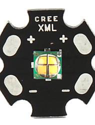 diy cree 12w 900lm 2800-3200K luce bianca calda ha portato emettitore con base in alluminio (12v)