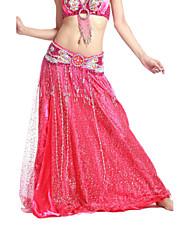 dancewear raso / tul vientre falda de baile para las damas más colores