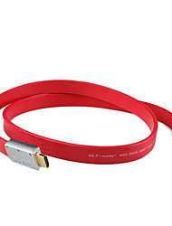Standard Male to Male HDMI Cable (3 m, Red)