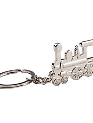 Metall Silber train keychain