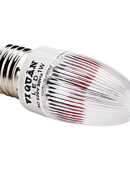 E27 0.5W 30-45lm White Light LED Nachttischlampe Candle Bulb (110-220V)