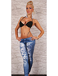 vrouwen trendy denim leggings