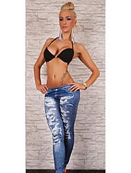 leggings de mezclilla de moda de las mujeres