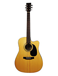 "Recording King - (RD-07-CE) 41"" Solid Citka Spruce Dreadnought Acoustic Guitar with Gig Bag/Strap/Picks/Tuner"