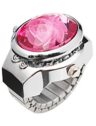 Charming Alloy Flower Design Adjustable Ring Watch (mehr Farben)