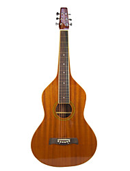Aiersi - (04WBRG) Plywood Mahogany Weissenborn Guitar/Acoustic Hawaiian Slide Guitar with Gig Bag(Glossy)