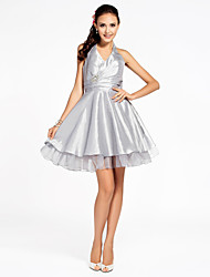 Cocktail Party/Homecoming/Wedding Party Dress - Silver Apple/Hourglass/Inverted Triangle/Pear/Rectangle/Petite/Misses A-line/Princess