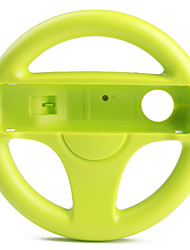 Plastic Racing Wheel Controller for Wii/Wii U (Green)