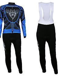 KOOPLUS Men's Cycling Suits Long Sleeve Bike WinterBreathable / Ultraviolet Resistant / Front Zipper / Wearable / Thermal / Warm / Fleece