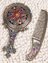 miroir en alliage magnifique compact et faveur peigne