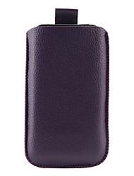 litchi patrón pu estuche de cuero para iPhone 3G y 3GS (púrpura)