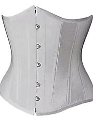lindo cetim strapless frente busk corsets fechamento shapewear (mais cores) sexy lingerie shaper