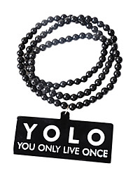 """""""TOLO You Only Live Once"""" Acrylic Necklace"""