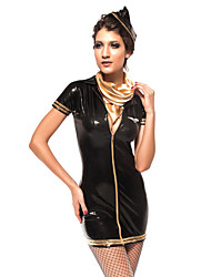 Sexy Womens Piloto consideravelmente preta Halloween Costume (2 Unidades)