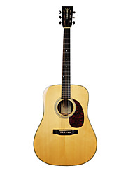 "Recording King - (RD-127) 41"" Solid Citka Spruce Dreadnought Acoustic Guitar with Gig Bag/Strap/Picks/Tuner"
