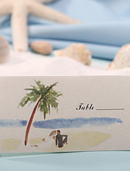 Place Cards and Holders Place Card - Beach Theme (Set of 12)
