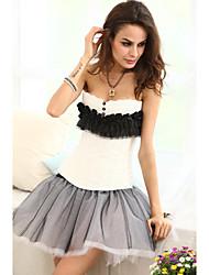 Viscose / Lace Strapless Lace-up shapewear Espartilhos