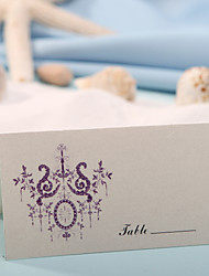 Place Cards and Holders Place Card - Purple Flower Print (Set of 12)