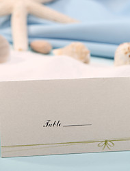 Place Card - Green Bow (Set of 12)