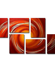 Hand-painted Oil Painting Abstract Oversized Wide Set of 6