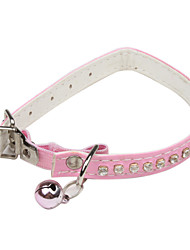 Adjustable Jewelry Decorated Collar with Little Bell for Cats, Dogs (Random Color,30cm/11.8inch)