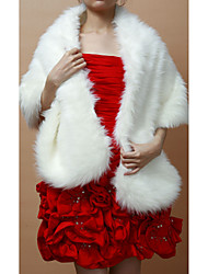 Nice Faux Fur Party/Holiday Shawl