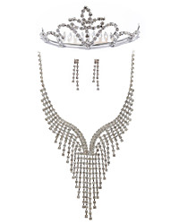 Beautiful Rhinestones Wedding Bridal Jewelry Set,Including Necklace,Tiara And Earrings
