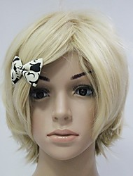 Capless Light Golden Blonde Straight Wave Party Hair Wig