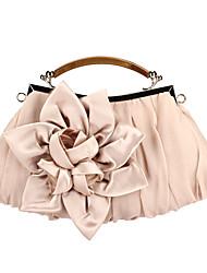 Elegant Polyester with Flower Evening Handbag/Top Handle Bag(More Colors)