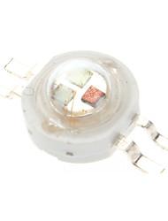 3W RGB LED de luz Emisores (3-3.2V, 5-Pack)
