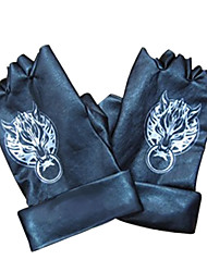 Gloves Inspired by Final Fantasy Cloud Strife Anime/ Video Games Cosplay Accessories Gloves Black PU Leather Male