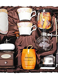 Coffee Series Boxed Gift (Seal & Siphon Pot, Grinder, Cups)