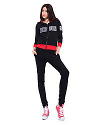 92% Mujeres de algodón de manga larga rápidos Trajes Secos suaves (jersey + pants)