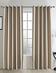 (Dois painéis) clássico sala de tarja jacquard escurecimento cortina