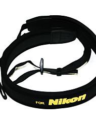 Neoprene Correia de pescoço para câmera Nikon D5000 Para D5100 D90 D80 D70 D3100 D700 D7000