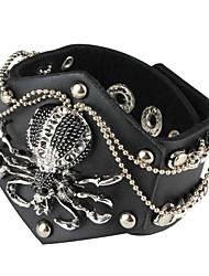 Retro Punk Style Vier Row Rivet Ontwerp Armband