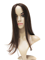 Mono Top Brown Synthetic Long Straight wig